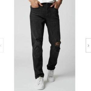 Blank NYC Wooster Black Distressed Slim Fit Jean